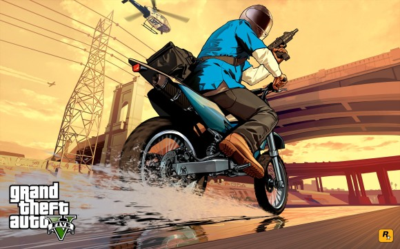 Artwork Franklin em moto no GTA V