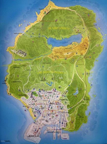 Mapa Oficial do GTA V