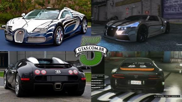 Truffade Adder e Bugatti Veyron GTA V