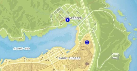 Mapa Trafico Terrestre 1 GTA V