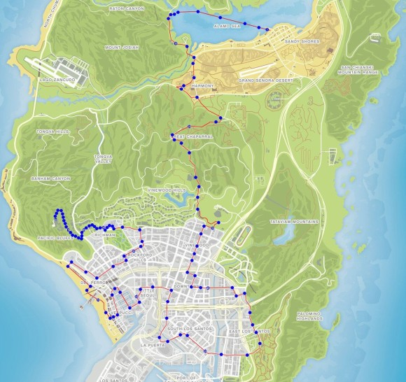 Mapa Triatlo Coyote Cross Country 2 GTA V