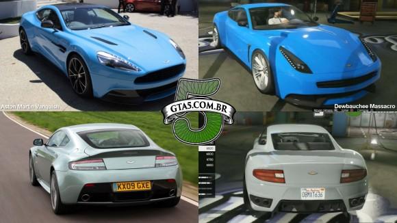 Dewbauchee Massacro e Aston Martin Vaquish do GTA V Online