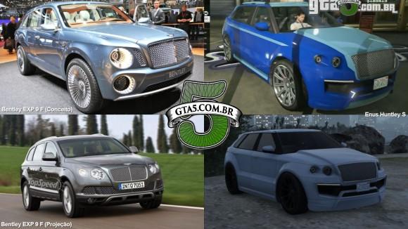 Enus Huntley S e Bentley EXP 9 F do GTA V Online