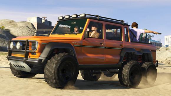 Dubsta 6x6 do GTA Online permite levar até 6 jogadores, inclusive na caçamba