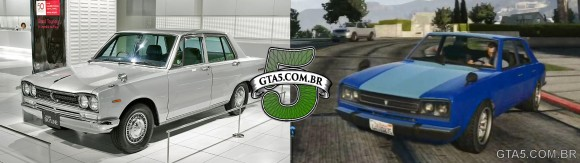 Vulcan Warrener e Nissan Skyline do GTA V Online