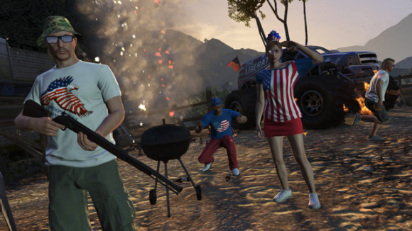 Churrasco na DLC The Independence Day Special do GTA Online