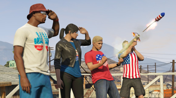 Foguete da DLC The Independence Day Special do GTA Online