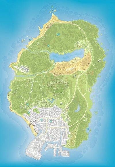 Mapa das missoes Epsilon do GTA 5
