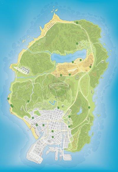 Mapa de lojas de conveniencia mercadinhos do GTA Online