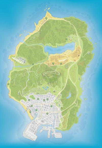 Mapa de lojas de roupas do GTA 5