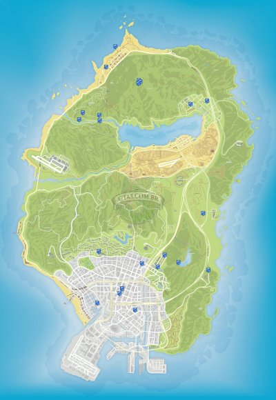 Mapa de paraquedismo do GTA 5