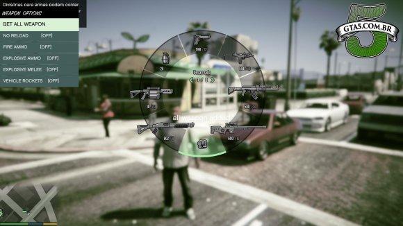 Todas as armas no GTA V com o Nativer Trainer
