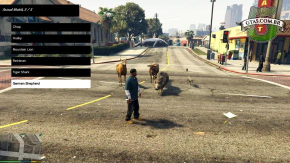 Animais guarda costas no mod PC Tainer V Beta 1 para GTA V